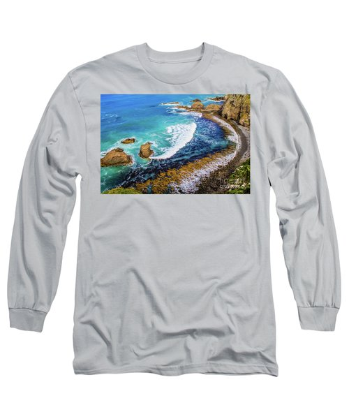 Roaring Bay At Nugget Point Long Sleeve T-Shirt