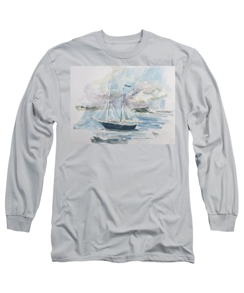 Ship Sketch Long Sleeve T-Shirt