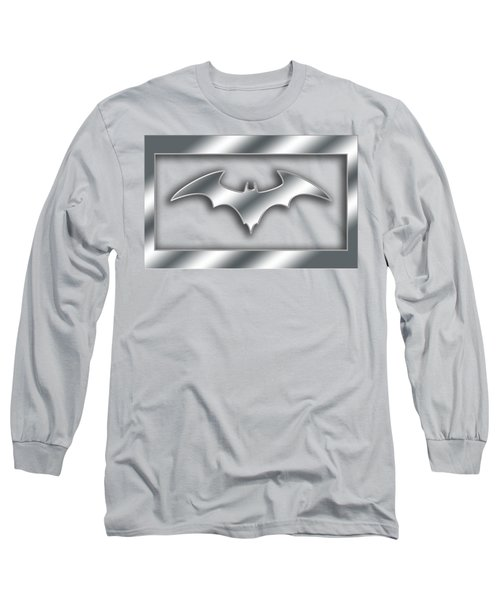 Silver Bat Transparent Long Sleeve T-Shirt