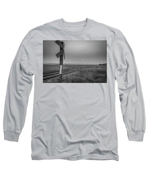 Smoke Haze Over The Prairie Long Sleeve T-Shirt