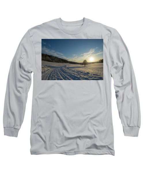 Snow And Sunset Long Sleeve T-Shirt