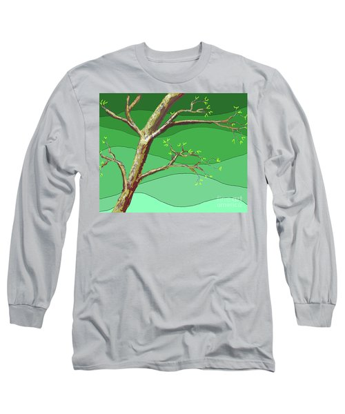 Spring Errupts In Green Long Sleeve T-Shirt