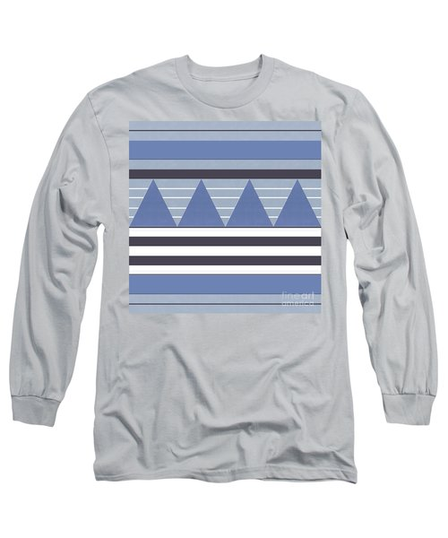 Long Sleeve T-Shirt featuring the photograph Stormy Blue Patch by Rockin Docks