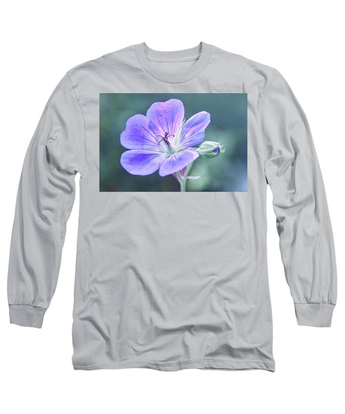 Long Sleeve T-Shirt featuring the photograph Sunny Blossom by Leda Robertson