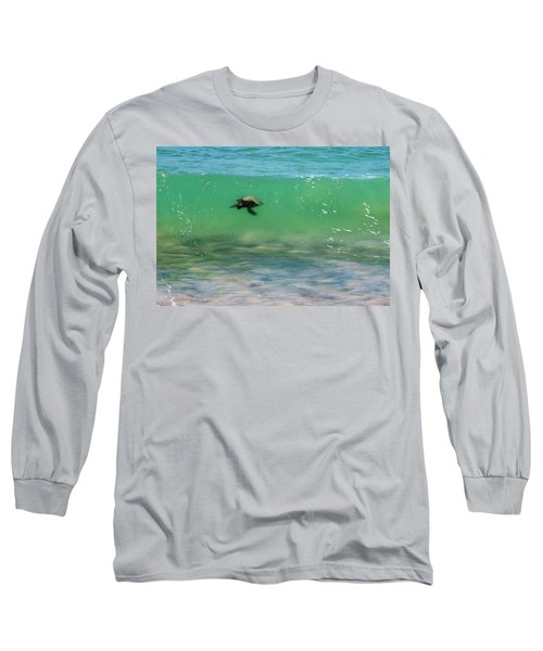 Surfing Turtle Long Sleeve T-Shirt