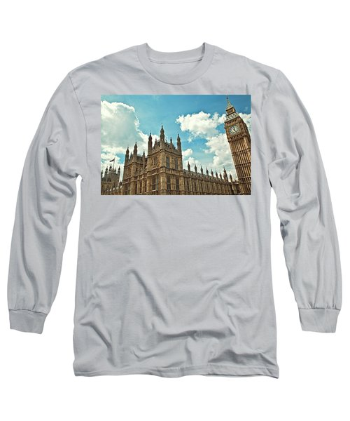 Tea Time With Big Ben At Westminster Long Sleeve T-Shirt