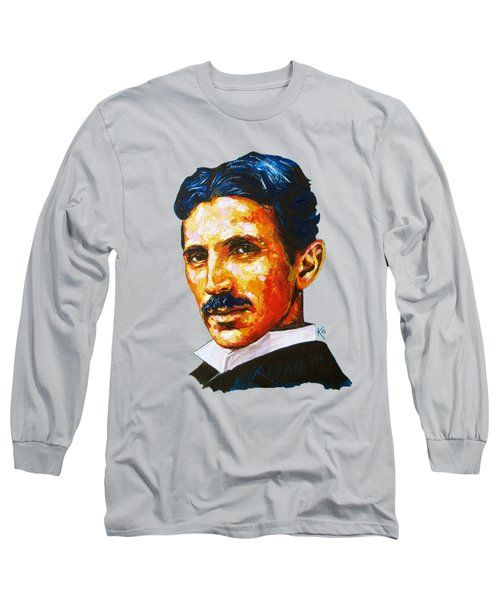 Tesla - Pure Genius Long Sleeve T-Shirt