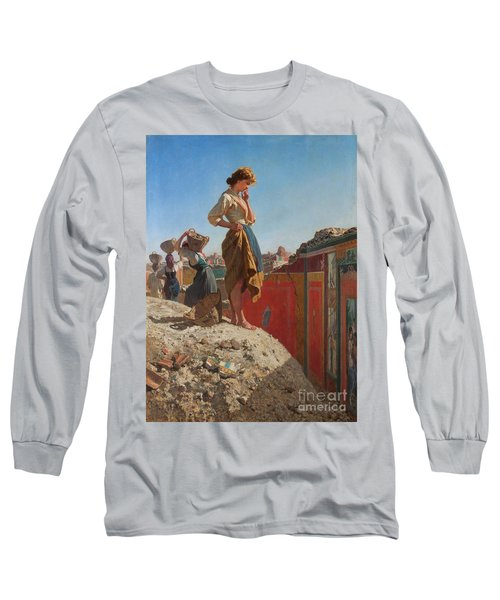The Excavations Of Pompeii Long Sleeve T-Shirt