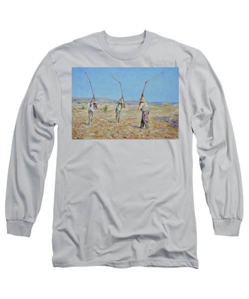 The Haymakers - Pierre Van Dijk 70x90cm Oil Long Sleeve T-Shirt