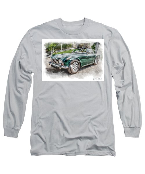 Triumph Tr5 At Roman Gardens Long Sleeve T-Shirt
