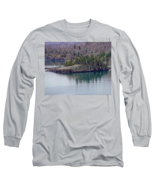 Tranquility In Silver Bay Long Sleeve T-Shirt
