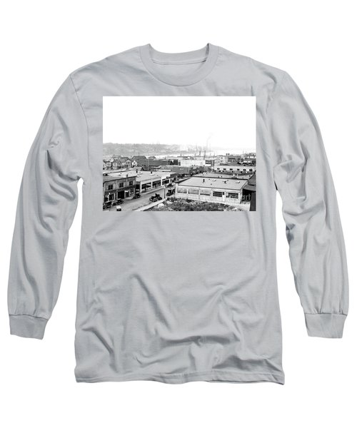View Nw Over Olympia From Elks Building On Capitol Way 1929 Long Sleeve T-Shirt