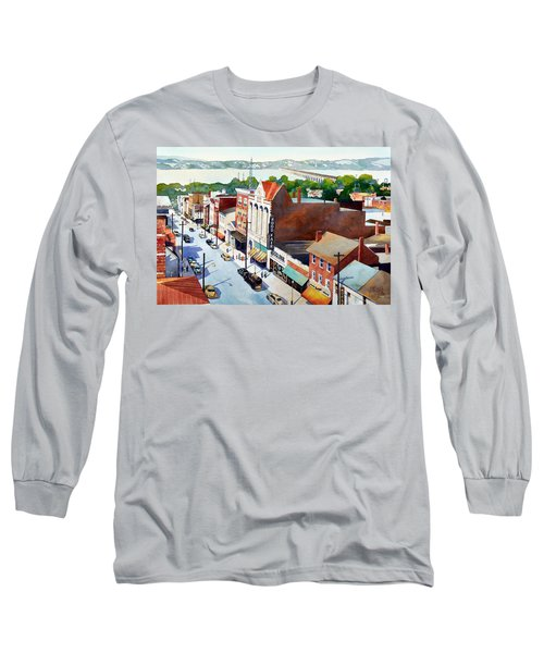 Vintage Color, Columbia Rooftops Long Sleeve T-Shirt