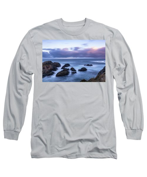 Waves At The Shore In Vesteralen Recreation Area Long Sleeve T-Shirt