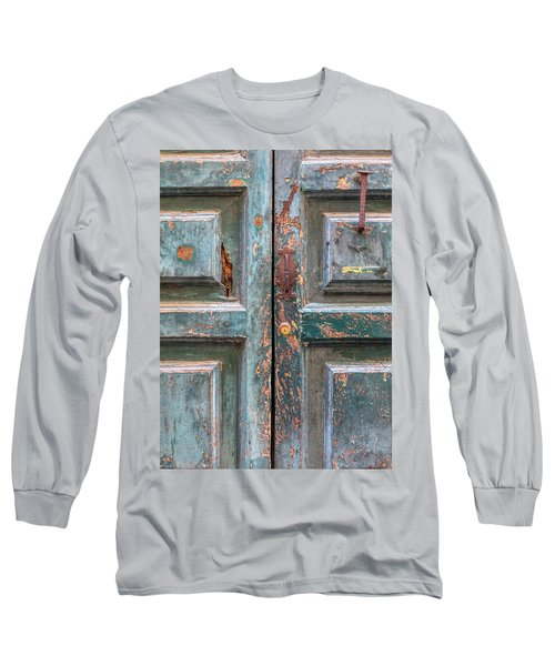 Weathered Rustic Green Door Of Cortona Long Sleeve T-Shirt