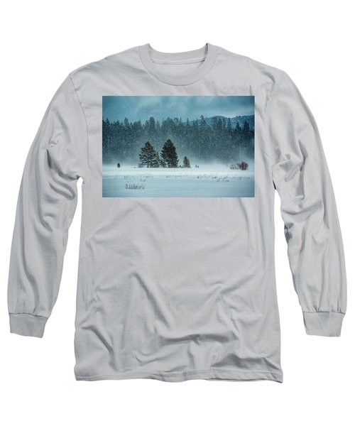 Windblown Snow Long Sleeve T-Shirt