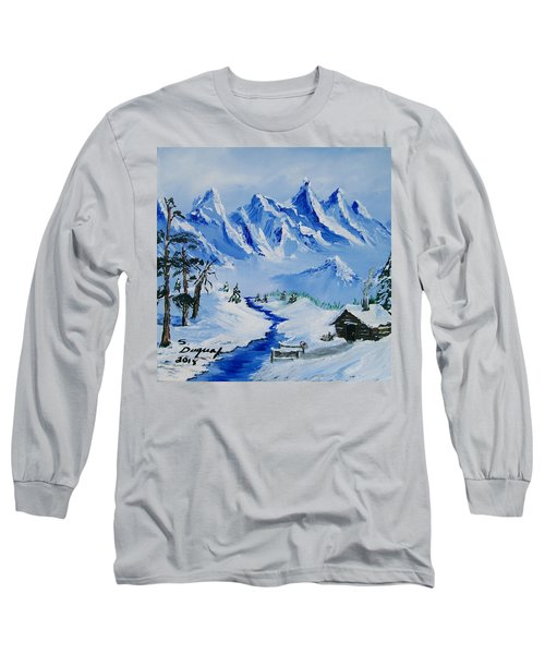 Winter In The Rockies Long Sleeve T-Shirt