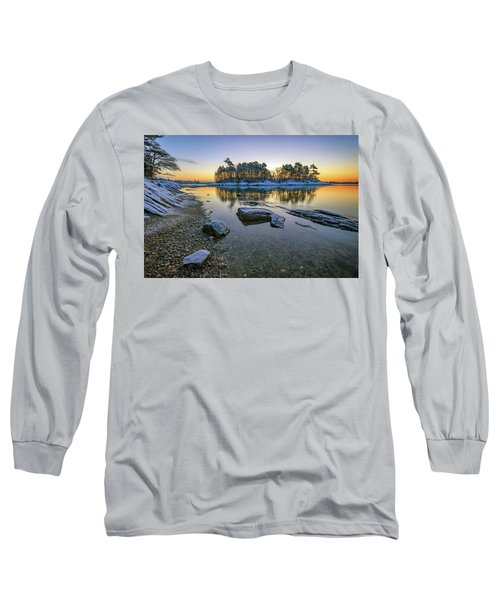 Winter Morning In Wolfe's Neck Woods Long Sleeve T-Shirt
