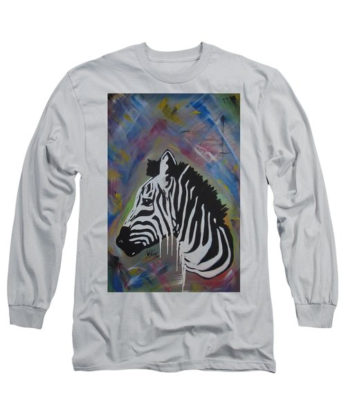 Zebra Drip Long Sleeve T-Shirt