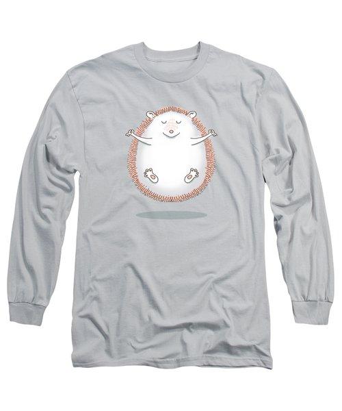 Zen Hedgehog Meditating Long Sleeve T-Shirt