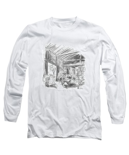 ' . . . Scene 3: Interior Of A Barn.' Long Sleeve T-Shirt