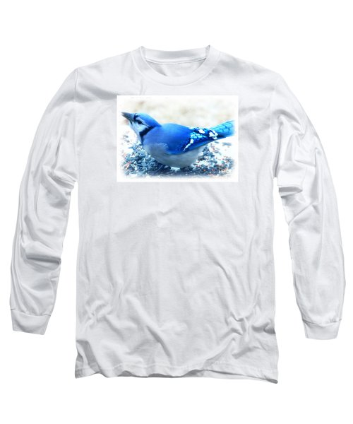 Bright Blue Jay  Long Sleeve T-Shirt