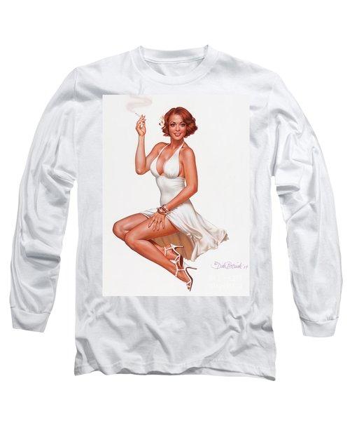 Camel Girl In White Long Sleeve T-Shirt