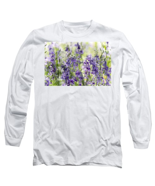 Fields Of Lavender  Long Sleeve T-Shirt by Saija  Lehtonen