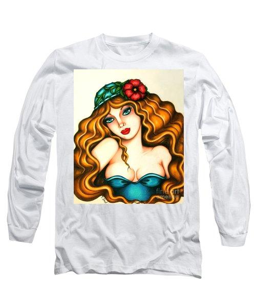 Flower Hat Long Sleeve T-Shirt