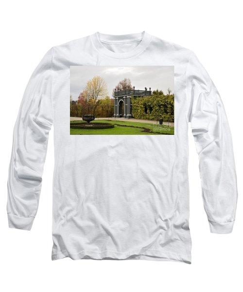 Long Sleeve T-Shirt featuring the photograph  Garden Gate Schonbrunn Palace Vienna Austria by Imran Ahmed