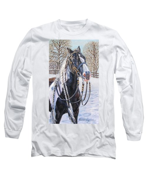 I'm Ready For The Ribbons Gypsy Vanner Horse Long Sleeve T-Shirt