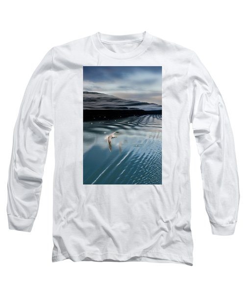 Journey With A Sea Gull Long Sleeve T-Shirt by Gary Warnimont