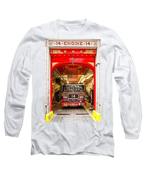New York Fire Department Engine 14 Long Sleeve T-Shirt by Luciano Mortula