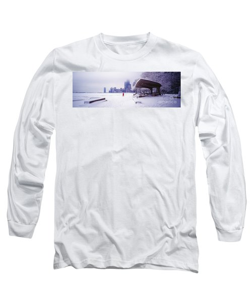 Long Sleeve T-Shirt featuring the photograph  North Ave Beach Chess Palv Chicago Lake Front  by Tom Jelen