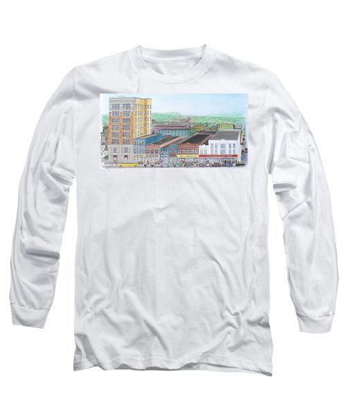 Portsmouth Ohio Dime Store Row 4th To 5th Long Sleeve T-Shirt by Frank Hunter