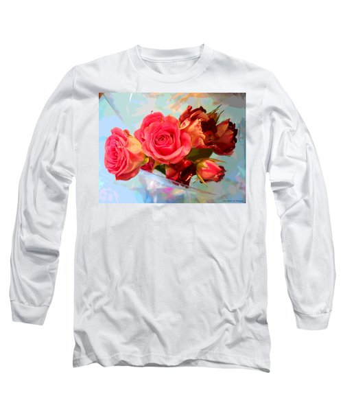 Roses 4 Lovers  Long Sleeve T-Shirt by Rogerio Mariani