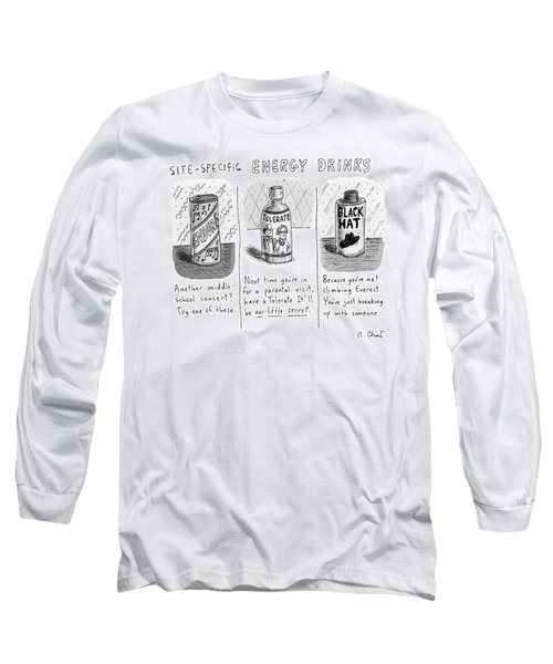 Site-specific Energy Drinks A Series Of Energy Long Sleeve T-Shirt