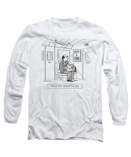 Targeted Advertising A Man Sits On The Subway Long Sleeve T-Shirt