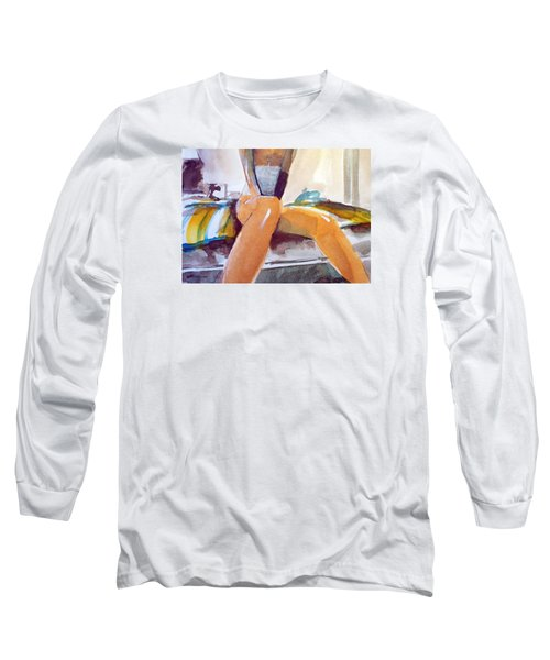 Long Sleeve T-Shirt featuring the painting  Tommie Copper  by Ed  Heaton
