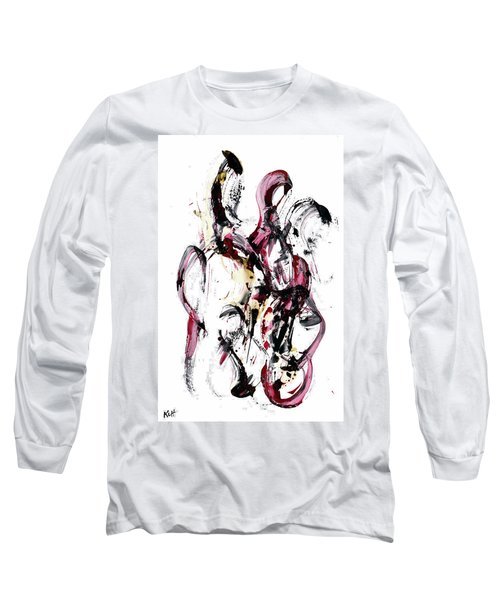 Long Sleeve T-Shirt featuring the painting 10118.110409 - Dance Of The Universe 1 by Kris Haas