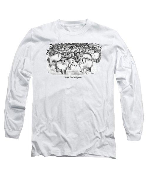 1-800 Herd Of Elephants Long Sleeve T-Shirt