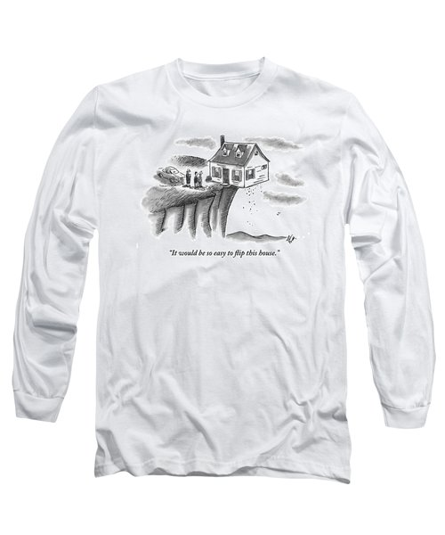 A Couple And A Real Estate Representative Stand Long Sleeve T-Shirt