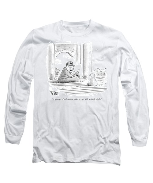 A Journey Of A Thousand Miles Begins Long Sleeve T-Shirt