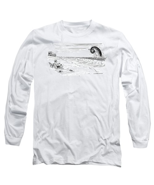 A Woman Swimming In The Ocean Is Trapped Long Sleeve T-Shirt