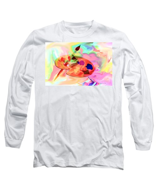 Artist Palette Long Sleeve T-Shirt by Annie Zeno