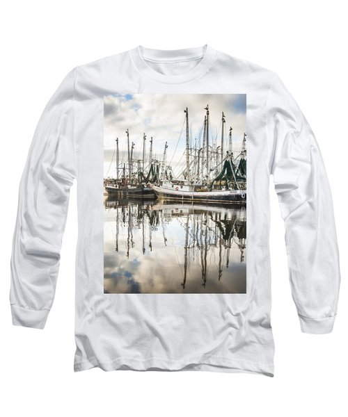 Bayou Labatre' Al Shrimp Boat Reflections Long Sleeve T-Shirt
