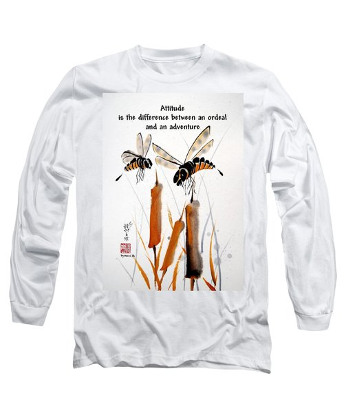 Long Sleeve T-Shirt featuring the painting Beeing Present by Bill Searle