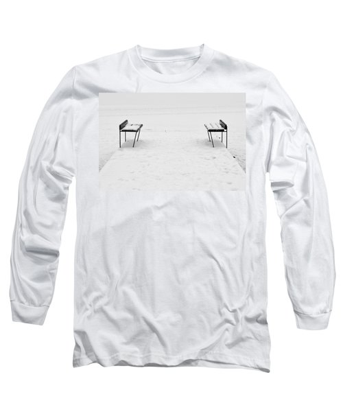 Benches On A Dock Long Sleeve T-Shirt
