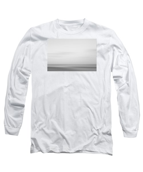 Black And White Abstract Seascape No. 01 Long Sleeve T-Shirt