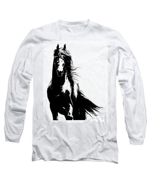 Black Beauty  Long Sleeve T-Shirt by Kate Black